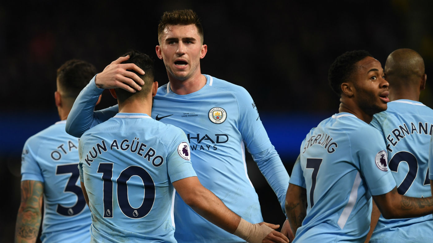 This image has an empty alt attribute; its file name is aymeric_laporte_manchester_city_most_expensive_squad_getty_images_916645060.jpg